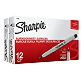 Sharpie Permanent Markers, Ultra-Fine Point, Black, 24-Count