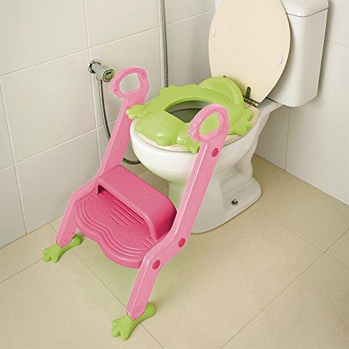 Redutor De Assento Com Escada Menina Multikids Baby Rosa - BB052, Multikids Baby, Rosa