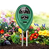 FOMOOUR Soil Test Kit, 3-in-1 Moisture/Light/PH Soil Tester, Soil Moisture Meter for Plants Vegetables, No Battery Required, Soil PH Meter Suitable for Indoor & Outdoor, Moisture Meter
