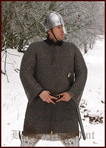 Costume medievale taglia XL, Larp, vichingo, bronzo ID 8 mm, in cotta di maglia Hauberk, Nasir Ali