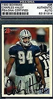 Charles Haley Cowboys Signed 1993 Bowman Authentic - PSA/DNA Certified - Football Slabbed Autographed Cards