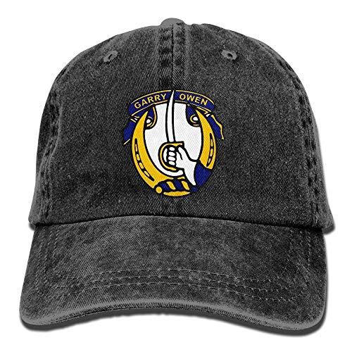 Roman Lin 7mo Regimiento de Caballería Gorra de béisbol Ajustable Sombrero de Malla Gorras de Camionero