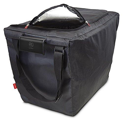 achilles Easy-Freezer, Faltbare Einkaufswagentasche, Isolierte Kühltasche, Einkaufstasche passend für alle gängigen Einkaufswagen, schwarz, 54x35x39 cm