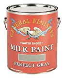 General Finishes Water Based Milk Paint, 1 Gallon, Perfect Gray