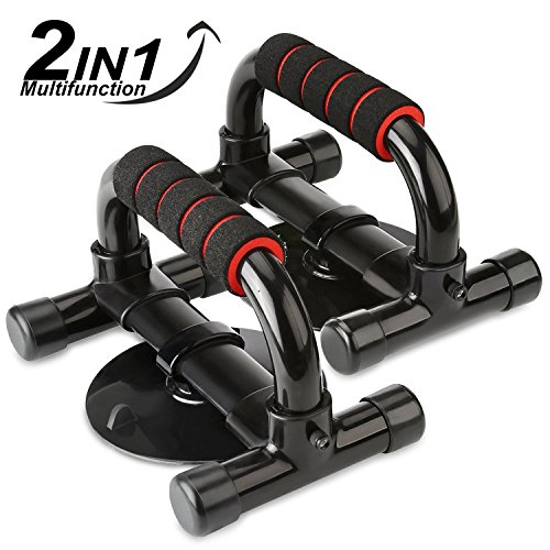 HiHiLL Push Up Push-up Bars Grips Handles Stands Sit-up Bars Grips Handles, 3-in-1Stands for Men and Women Work Out