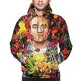 YOUBO Robert Pattinson Unisex 3D Realistic Digital Print Pullover Hoodie Hooded Sweatshirt Small Black