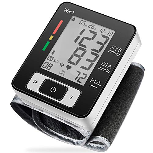 MMIZOO Digital Blood Pressure Monitors Fully Automatic Wrist Blood Pressure Monitor with Wristband Automatic Wrist Electronic Blood Pressure Monitor Perfect for Health Monitoring(MZW133)