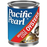 Pacific Pearl Whole Oysters, 8-Ounce Cans (Pack of 12), 96 Ounce