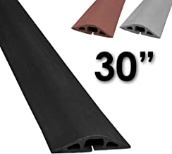 Electriduct D-2 Rubber Duct Cord Cover - 30 Inch (2.5 Feet) Black Floor Cable Protector
