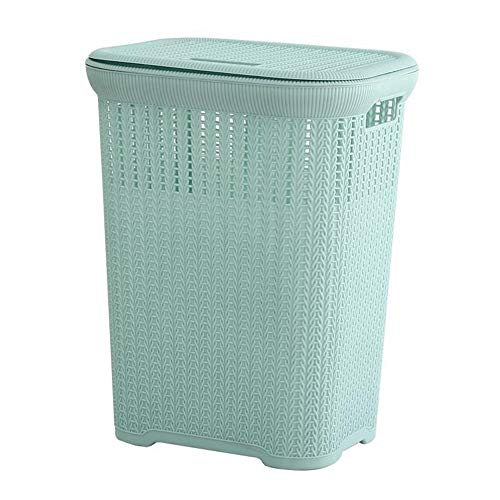 L1 Multifunctional large-capacity laundry basket with lid, healthy and environmentally friendly, non-slip base, easy to move on both sides of the handle