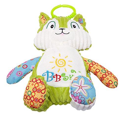 Morbuy Poupées de Couchage Bébé Appease Avec des Jouets Nouveau-nés Plush Animaux Bébé Cute Soft Peluche Activité Crib Poussette Jouets Toy Doll (25CM Vert)