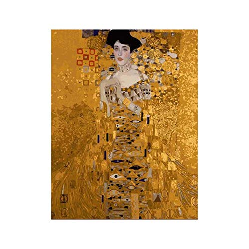 DIY Digital Painting,Hand-Painted Color Fill,Living Room Oil Painting Decorative Painting 40X50Cm,Golden Girl Zwwcj