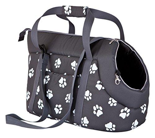 Hobbydog TORGWL2 Tragetasche für Hunde und Katzen, 27 x 25 x 43 cm, grau mit Pfoten