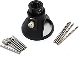 Rotary Multi Tool Cutting Guide Attachment Kit with HSS Router Drill Bits Set