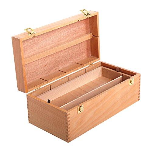 Art-Star ORIGINAL Holz AUFBEWAHRUNGS Box | 40 x 20 x 15 cm, Buchenholz | Künstlerbox, Malkasten