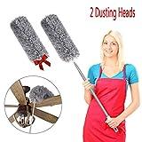 Best Ceiling Fan Dusters - Ceiling Fan Duster, 2 Bendable Head Microfiber Duster Review