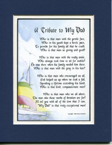 Genie's Poems A Sentimental Present for A Father #20, Touching 60th 70th or 80th Birthday Gift for Dad.