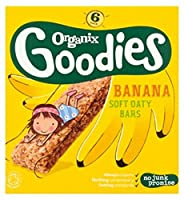 Organix Goodies Organic Banana Soft Oaty Bars 6 x 30g - Organixは、有機バナナソフトOatyバー6×30グラムをグッズ (Organix) [並行輸入品]