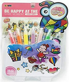 Window Paint Art Stickers Kit Children Make Your Own Fun Mirror Arts Crafts Kit Kid Educational DIY Toys drawing toys Wind...