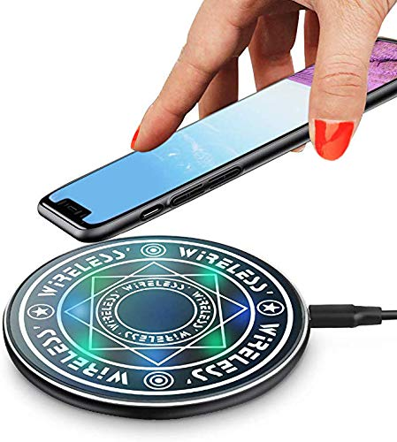 Fast Magic Wireless Charging Charger Pad | Ultra-Thin Slim Design for Qi Compatible Smartphones iPhone 11/11Pro/ProMax 8/8 Plus/X/XS/XS Max/XR Samsung S6/S6edge/S8/S8 Plus/S9/S9+/LG