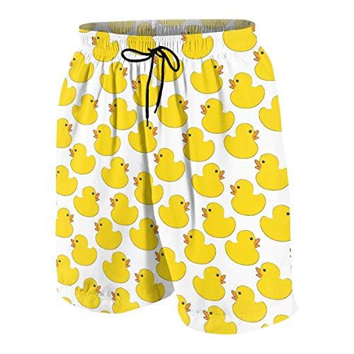 NA Badehose für Jungen, Gummi-Enten, schnelltrocknend, süße Boardshorts, 7–20 Jahre
