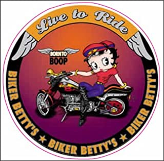 Betty Boop Live to Ride Decal 5