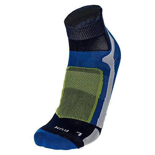 MICO Chaussettes de Course à Pied mi-Haute Bleu Taille XL