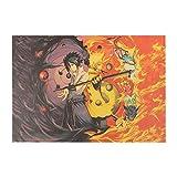 Abkaeh Mini Puzzles de 1000 Piezas 50x75cm Dibujos De Naruto Anime Puzzles de Suelo para Niños Adultos Intelectual Desafío Juegos de Rompecabezas para la Damilia