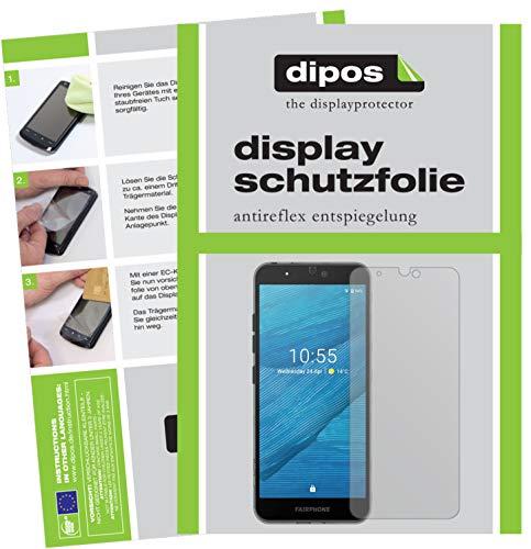 dipos I Schutzfolie matt kompatibel mit Fairphone 3 Folie Bildschirmschutzfolie
