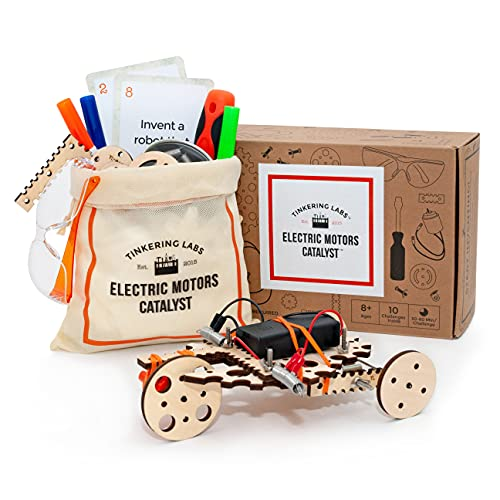Tinkering Labs Electric Motors Catalyst, Robotics Stem Kit for Kids Age 8-12