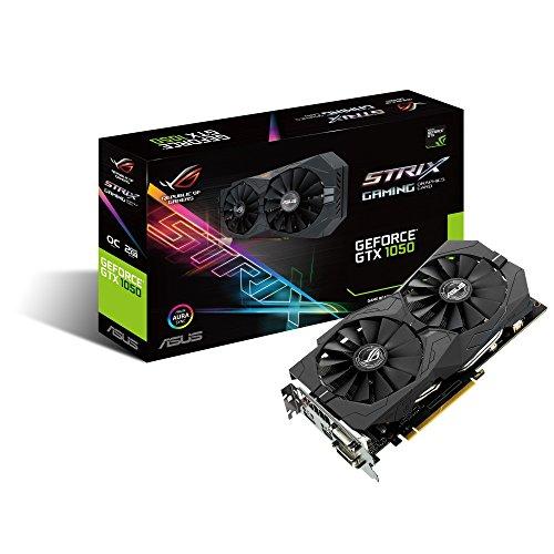Asus ROG-STRIX-GTX1050-O2G-GAMING Scheda Grafica OC Edition, Geforce GTX1050, 2 GB GDDR5 con Asus Aura Sync, 4K