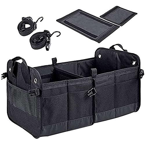 qinjun Organizador de múltiples bolsillos para coche, gran capacidad, plegable, bolsa de almacenamiento para cajuela y almacenamiento plegable multiusos