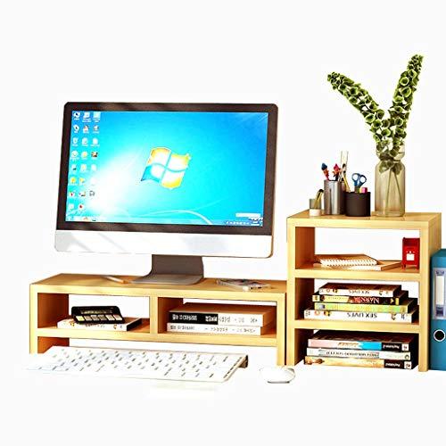 Hölzerne Monitor-Heber-Gr&halterung, Monitor- / Laptop- / Fernsehstandplatz, Bett-Kleiner Schreibtisch, Schlafzimmer-Lesestandplatz - 76cmX20cmX27.5cm