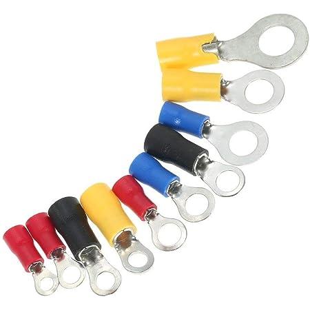 540tlg Ringkabelschuh Stecker Ringösen Kabelverbinder Crimpzange Set M3 bis M10