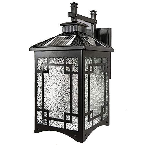 SZ&LAM Outdoor Wall Light Solaire, imperméable à l'eau Accueil Mur télécommande Lumière, Villa Lumière Porte extérieure Balcon éclairage