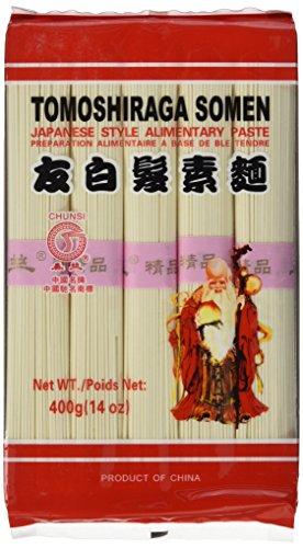 Chunsi Weizennudeln, (Tomoshiraga Somen), 6er Pack (6 x 400 g Packung)