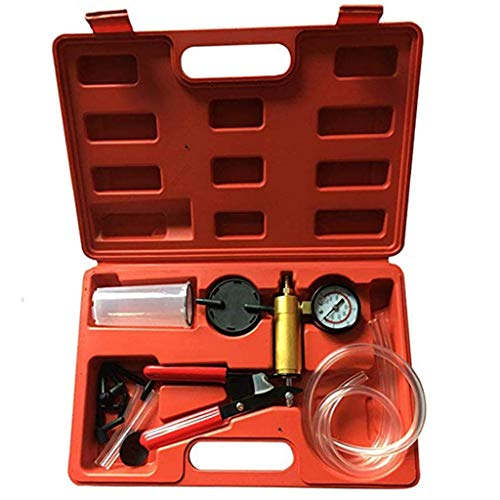 Yusell Brake Fluid Bleeder Hand Held Vacuum Pistol Pump Tester Kit + Adapters