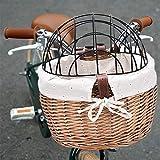 AFANGMQ Katze Hund Fahrrad Front Lenker Korb Haustiere Sitz Handwälzchen Wicker MTB Rennrad Bike...