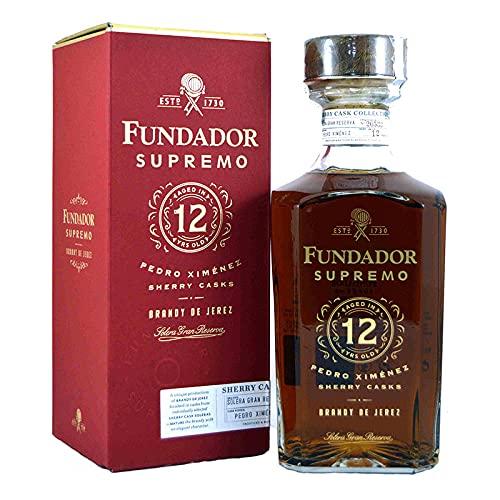 Brandy Fundador Supremo Pedro Ximenez 12 Jahre 70 cl - Brandy de Jerez - Bardinet (1 Flasche)