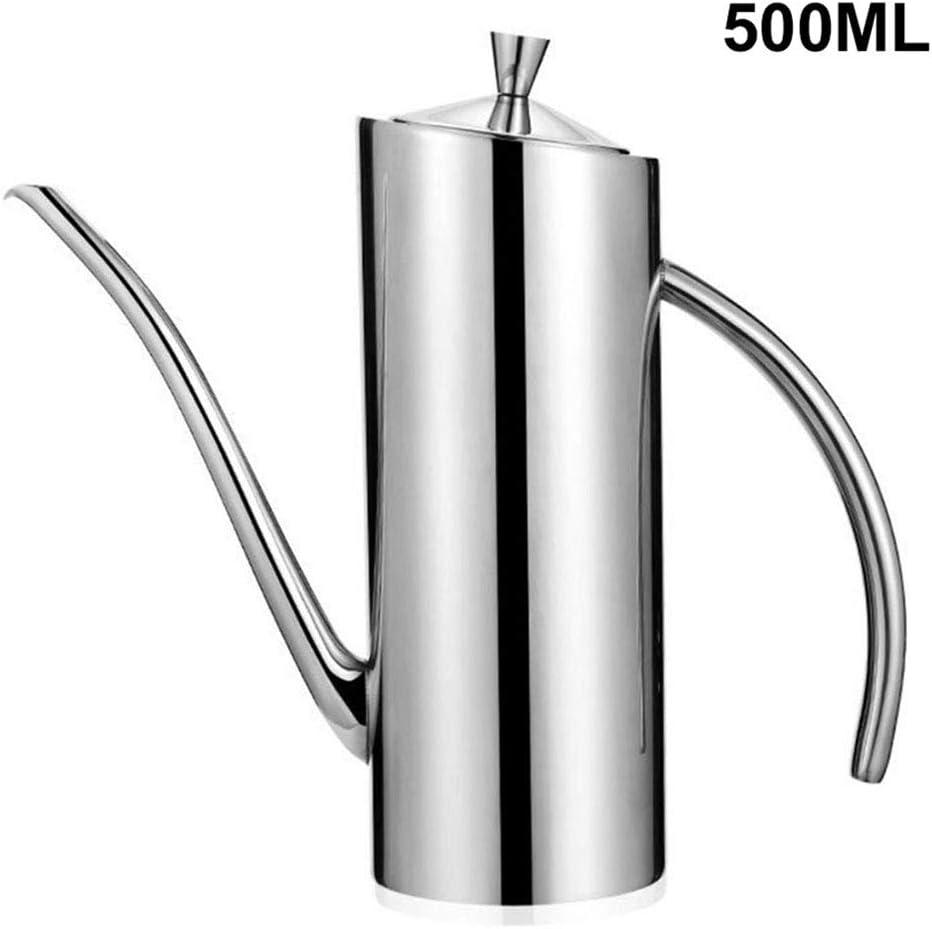 Pot dhuile dolive en acier inoxydable distributeur dhuile dolive /étanche avec bec verseur sans goutte pot darroseur distributeur dhuile de cuisine