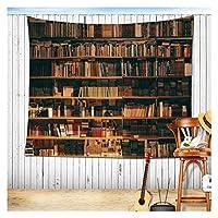 偽の本棚の図書館の本棚のタペストリーの壁の生地の背景の装飾ヴィンテージヨーロッパのぶら下がっている壁のタペストリー (Color : 6, サイズ : 150x100cm)