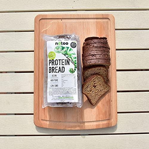 NATOO Pane proteico a fette con basso contenuto di carboidrati - 2 confezioni da 365gr. - morbido e gustoso