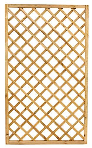 Pannello Grigliato Rettangolare In Legno CM 120X180 Per Arredo Balcone, Giardino, Esterno