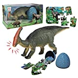 Parasaurolophus Dinosaur Toy for Kid 3 Years Old, 3 in 1 Toddler Toys Set for Kids Bys and Girls Age 3 and up Play, Education