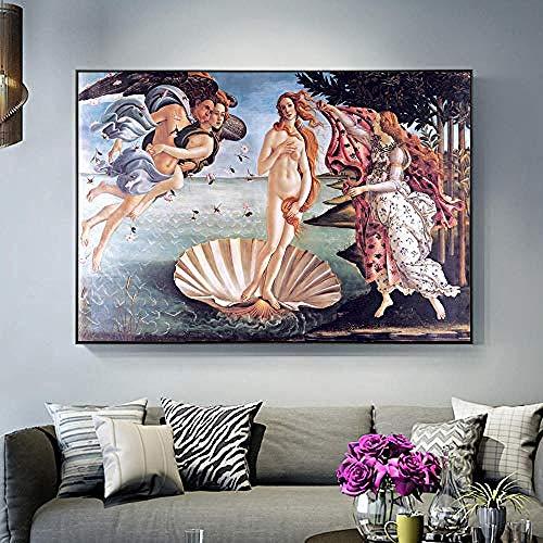 WJY Wall Art Canvas Print Famoso clásico Pintura clásica reproducción Wall Art Poster Replica Picture decoración del hogar 50cmx75cm sin Marco