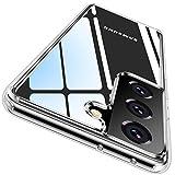 CASEKOO Crystal Clear Kompatibel mit Samsung Galaxy S21 + Plus Hülle, [Keine Vergilbungen] [Falltest gemäß MLT-STD] Stoßfest Transparent Slim Dünn Handyhülle 6,7 Zoll 5G 2021- Durchsichtig