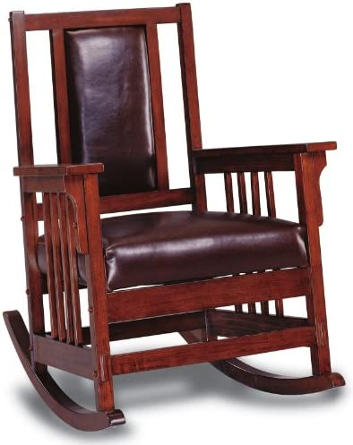 Best Coaster Home Furnishings CO-600058 Rocking Chair, Tobacco & Dark Brown