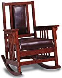 Coaster Home Furnishings CO-600058 Rocking Chair, Tobacco & Dark Brown