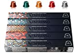 Nespresso World Explorations Pack: ENVIVO LUNGO, FORTISSIO LUNGO, LINIZIO LUNGO, SHANGHAI LUNGO, BUENOS AIRES LUNGO, 50 Capsule