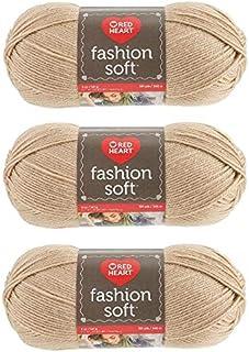 Red Heart (Coats) Yarn - Fashion Soft - 3 Pack (Camel)